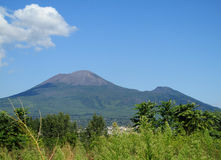 Mount Vesuvius in the distance in summer Stock Photo