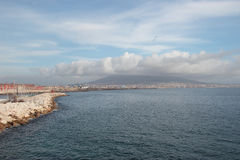 Vesuvius and Naples coast Royalty Free Stock Photo