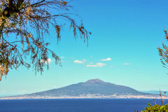 Mount vesuvius and gulf of Naples seen from Sorrento Stock Images