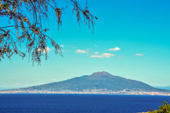 Mount vesuvius and gulf of Naples seen from Sorrento. Naples gulf and mount vesuvius seen from Sorrento Stock Image