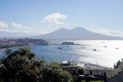 Mount Vesuvius Italien Arkivbild