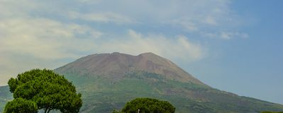 Mount Vesuvius located on the Gulf of Naples in Campania, Italy.  stock images