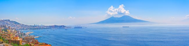 Mount Vesuvius and Naples panorama Stock Photo