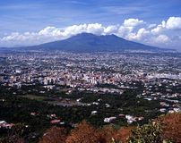 Mount Vesuvius, Near Naples, Italy. Royalty Free Stock Images