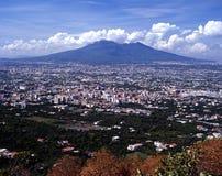 Mount Vesuvius, Near Naples, Italy. Mount Vesuvius in the fertile plain south of Naples, Near Naples, Campania, Italy, Europe Royalty Free Stock Images