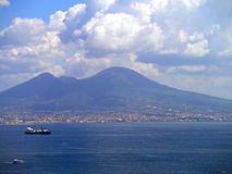 Mount Vesuvius overshadows Naples Italy Stock Photo
