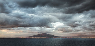 Mount Vesuvius sunset Royalty Free Stock Image