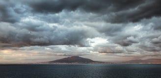 Mount Vesuvius sunset Royalty Free Stock Image