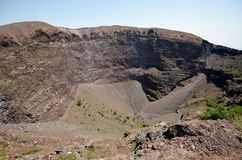 Mount Vesuvius Volcanic Crater Royalty Free Stock Images