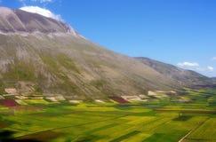 Mount Vettore, Castelluccio Stock Images