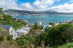 Mount Victoria fiews and homes royalty free stock photography