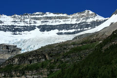Mount Victoria and Glacier Stock Photography