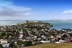 Mount Victoria,New Zealand. Hauraki Gulf and Rangitoto Island from Mount Victoria in Auckland, New Zealand Stock Photo