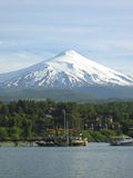 Mount Villarrica. Vertical landscape of mount Villarrica volcano near Puncon Chile Royalty Free Stock Images