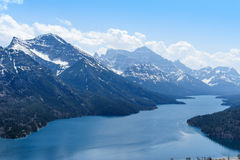 Mount Vimy and Waterton Lake scenic view Royalty Free Stock Photo