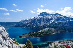 Mount Vimy, Waterton Lake and townsite Royalty Free Stock Photography