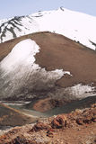 Mount volcano Etna snow covered peak. Sicily, Italy. Royalty Free Stock Photos