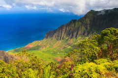 Mount Waiʻaleʻale, is a shield volcano and the second highest Royalty Free Stock Image