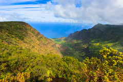 Mount Waiʻaleʻale, is a shield volcano and the second highest Royalty Free Stock Photos