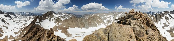 Mount Wallace Summit Panorama Stock Photography