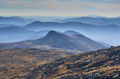Mount Washington. Amazing and one of the kind, mount Washington rocky scenery with White mountains of New Hamshire Stock Photo