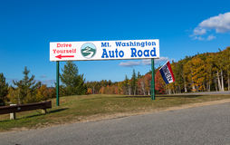 Mount Washington auto road Stock Image
