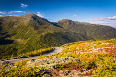 The Mount Washington Auto Road, near Gorham, New Hampshire. Royalty Free Stock Images