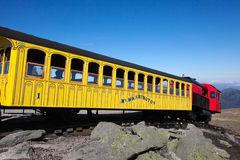 Mount Washington Cog Railroad. To the peak in the White Mountains, Coos County, New Hampshire, United States on September 25, 2011. The Mount Washington Cog royalty free stock image