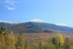 Mount Washington in Fall. With snow Royalty Free Stock Photo