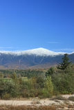 Mount Washington in Fall. With snow stock photography