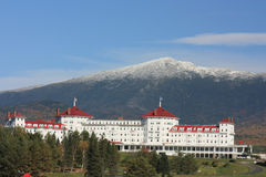 Mount Washington in Fall. With snow royalty free stock photos