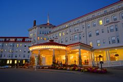 Mount Washington Hotel, New Hampshire, USA. Mount Washington Hotel in summer, Bretton Woods, New Hampshire, USA. This Hotel hosted the Bretton Woods monetary Stock Photo