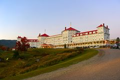 Mount Washington Hotel, New Hampshire, USA. Mount Washington Hotel in summer, Bretton Woods, New Hampshire, USA. This Hotel hosted the Bretton Woods monetary Stock Images