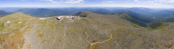 Mount Washington Summit aerial view, NH, USA