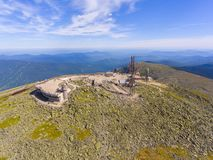 Mount Washington Summit aerial view, NH, USA