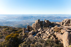 Mount Wellington. View of Hobart from the top of Mount Wellington, Tasmania Royalty Free Stock Photos