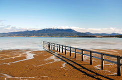 Mount Wellington. View of Mount Wellington in Hobart from Mortimer Bay, Tasmania Stock Photo