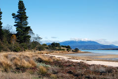 Mount Wellington. View of Mount Wellington in Hobart from Mortimer Bay, Tasmania Stock Images