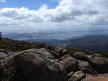 Mount Wellington, Hobart, Tasmania. View from the summit of Mount Wellington, Hobart, Tasmania, Australia Royalty Free Stock Images