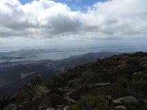 Mount Wellington, Hobart, Tasmania. View from the summit of Mount Wellington, Hobart, Tasmania, Australia Stock Photo