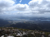 Mount Wellington, Hobart, Tasmania. View from the summit of Mount Wellington, Hobart, Tasmania, Australia Royalty Free Stock Image