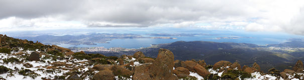 Mount Wellington panorama Royalty Free Stock Images
