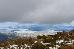 Mount Wellington paraglider Stock Photo