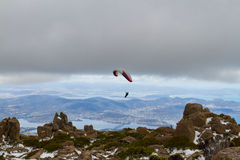 Mount Wellington paraglider Royalty Free Stock Photography