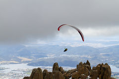 Mount Wellington Paraglider Royalty Free Stock Images