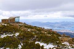 Mount Wellington, Tasmania. Scenic lookout from the top of Mount Wellington, Tasmania, in winter Royalty Free Stock Photos