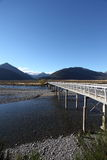 Mount White bridge, Waimakariri river, New Zealand Stock Images