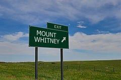 Mount Whitney Royaltyfria Foton