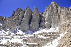 Mount Whitney, California 14er and state high point Stock Photos