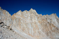 Mount Whitney in de Hoge Siërra Bergen Stock Foto